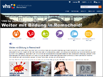 Homepage VHS Remscheid